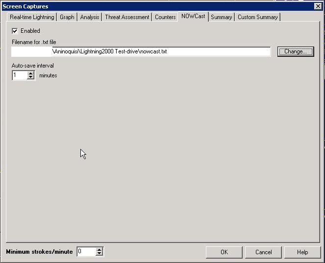 Nowcast Settings Screenshot